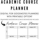 Academic Course/Graduation Planner for Digital Planning