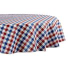 DII Tablecloth Vinyl Table Top   Red, White, & Blue Check / 70 Round