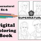 Supernatural Digital Coloring Book