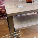 Handmade Rustic Grey Dining Table & Bench Set