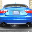 AWE Tuning Audi B8 A5 2.0T Touring Edition Exhaust   Quad Outlet Diamond Black Tips