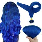 Up to 70% Off Full Shine I Tip Hair Extensions 40g Human Hair Extensions Solid Color (#Blue) (Only for US Address) - 22\ 40g / #Blue