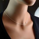 Sideways Cross Necklaces