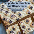 Steppdeckenkuchen  mit Blaubeeren