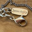 James Avery sterling silver link charm bracelet