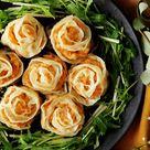 Shrimp and Chicken Rose-Shaped Dumplings