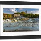 Large Framed Photo. Cascate del Mulino, natural pools of thermal