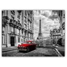 Latitude Run® 'The Eiffel Tower with Car in Paris' Framed Photographic Print on Canvas