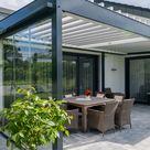 Terrassenüberdachung mit Lamellendach