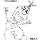Coloriage des personnages disney la reine des neiges, coloring page frozen , Olaf  a imprimer
