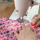 How to quilt fabric and foam stabilizer together