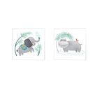 Playful Pals -Elephant & Hippo By Noonday Designs, Canvas Art (Set Of 2)