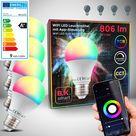 WiFi LED Leuchtmittel RGB + CCT E27 9W   4er Set