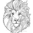 leeuw mandala tattoo