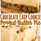 Chocolate Chip Cookie Crust Peanut Butter Pie • The Gold Lining Girl