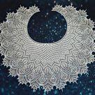 Shawl Lukomorye pattern by Olga Bochkareva
