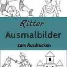 Ritter Ausmalbilder - Kostenlose Malvorlagen (▷hier Ausdrucken)