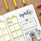 25 Yellow Bullet Journal Spread Ideas You Have To See - Crazy Laura