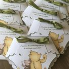 DIY Diaper Winnie the Pooh Invitation Template with Instructions - Make your own Diaper Invitation BOY/GIRL