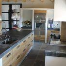********KEUKENS | Houten Koak Design keuken met ikea kasten, dik betonnen blad van... Door JJansen