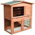 Pawhut Outdoor Bunny Cage Rabbit Hutch 40