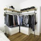 Offener Kleiderschrank: funktionale Ideen für Ihr Schlafzimmer!