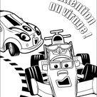 Ausmalbilder Kinder Roary der Rennwagen 6