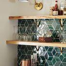 Emerald Green Kitchen Tile Backsplash