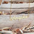 Personalized Name Necklace,Carrie Name Necklaces,Gold Choose any name to Personalize,Name Pendant Necklace