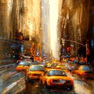 Dynamic Cityscapes Painted with Extreme Energy