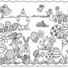 Mercredi Coloriage # 7, Des oeufs et des cocottes pour Pâques