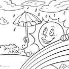 Malvorlage Wetter - Kostenlose Ausmalbilder