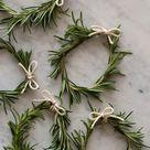 Rosemary Wreath Place Cards | DIY | Spoon Fork Bacon