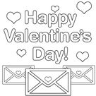 happy valentines day coloring page   Coloring Page Book