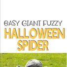 Easy DIY Fuzzy Halloween Spider