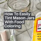 How To Tint Mason Jars - Easy Tutorial!