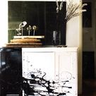 Weekend Project:  Paint Some Furniture Jackson Pollock–Style