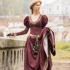 Medieval Cotton Fantasy Dress and Vest Costume