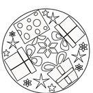 Mandala cadeaux de Noël