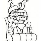 Coloriage hiver : 24 dessins à imprimer