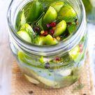 Overnight Refrigerator Dill Pickles Recipe   Evolving Table
