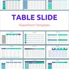 Table PowerPoint Templates - 20 Best design infographic templates