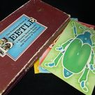 Vintage Beetle Game The Traditional Children's Game - 4 Wood Beetle Boards - Vintage Children's Fun Family Game - Age 2 up - 2 to 4 Players