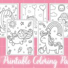 Cute Coloring Pages 21 Printable Kitten Coloring Pages for   Etsy