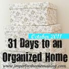 Announcing 31 Days to an Organized Home