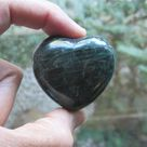 APATITE Heart Shaped CRYSTAL ~ Clarity, Spiritual Guidance, Self Expression