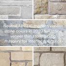 ARCTIC modern veneer stone colors 2020 full stone veneer thin stone siding masonry home design