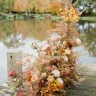 Elegant Autumn Florals by Vervain Flowers at Hanley Hall Barn Wedding Venue in the Worcestershire