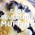 Quick and Easy Blueberry Muffins