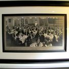 FRAMED ANTIQUE PHOTOGRAPH, American Society in London, Thanksgiving Day, Savoy Hotel, November 30, 1